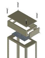 Cable holder bridge piece kit